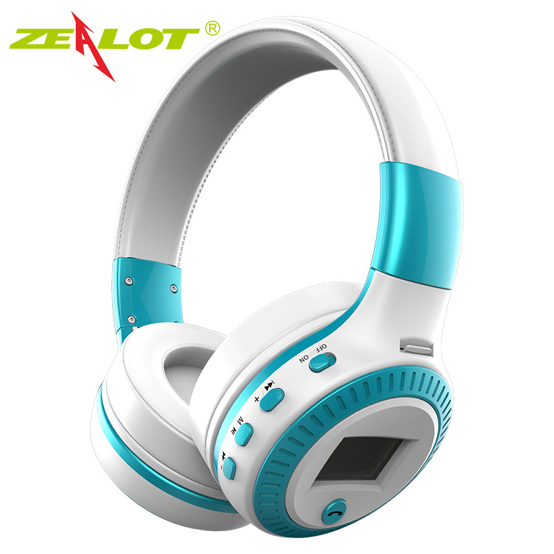 Zealot B19 Wireless Bluetooth Headphones Stereo Earphone Headphone with Mic Headsets Micro-SD TF Card Slot FM Radio For Phones zealot 047 bluetooth hifi headsets stereo fm radio wireless bluetooth headphones high fidelity blutooth headphones