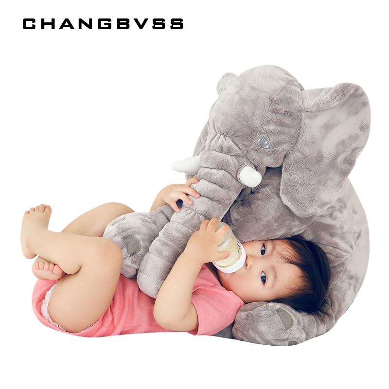 60*45*28 cm Baby Stuffed Calm Doll Plush Toys Baby Sleep Mate Seat Cushion Bed Room Decoration Soft Elephant Appease Baby Pillow
