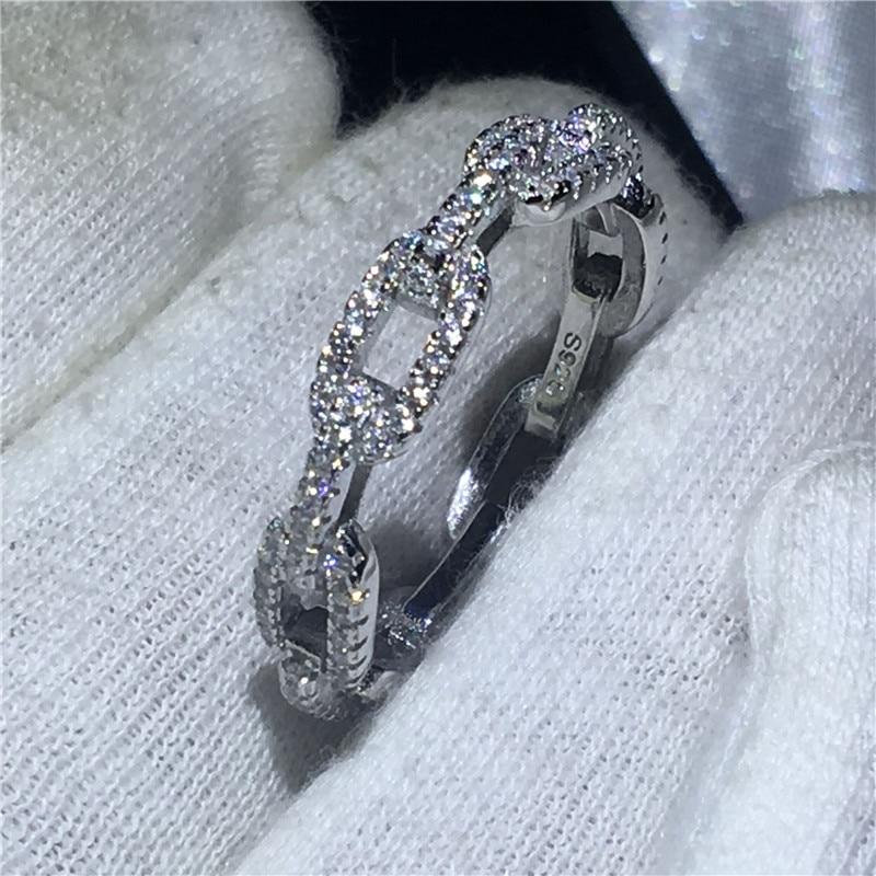 de prata esterlina 5a zircon cz forma
