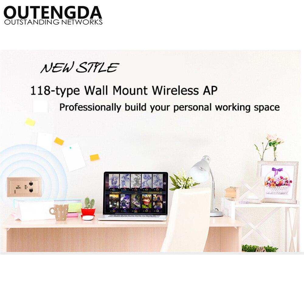 300Mbps 118 US-standard mur sans fil AP pour hôtel chambres de bureau domitoire USB Charge Point d'accès prise WiFi Extender routeur - 5