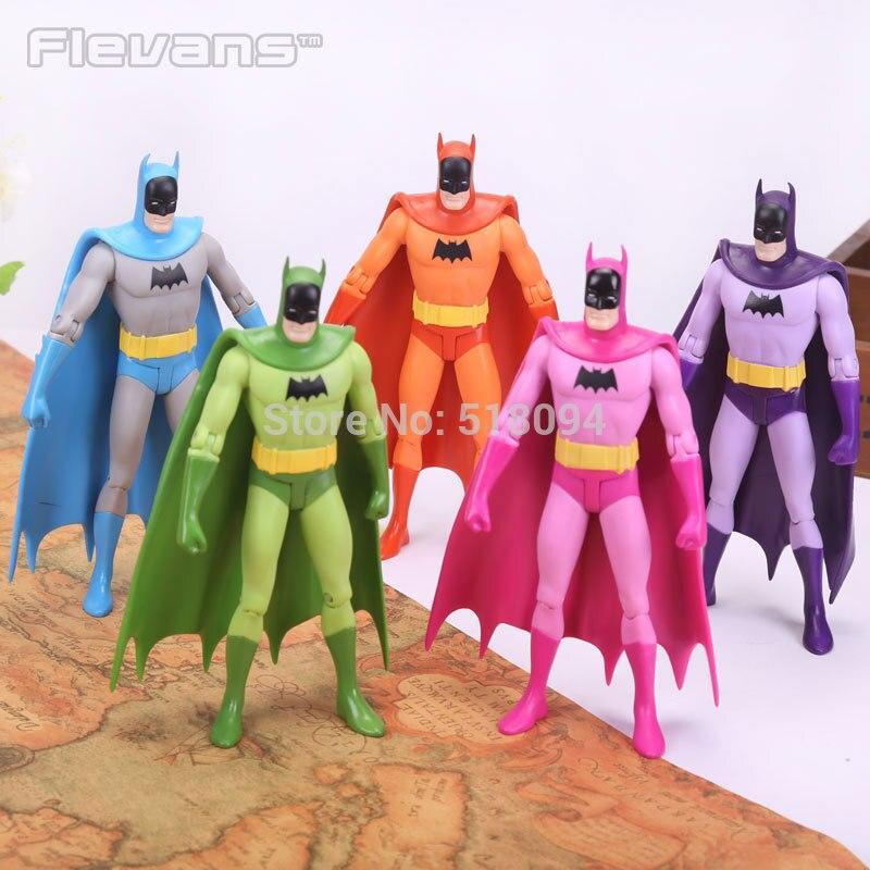 DC Super Hero Batman PVC Action Figures Collectible Toys Colorful Batman 7 18cm neca dc comics batman arkham origins super hero 1 4 scale action figure