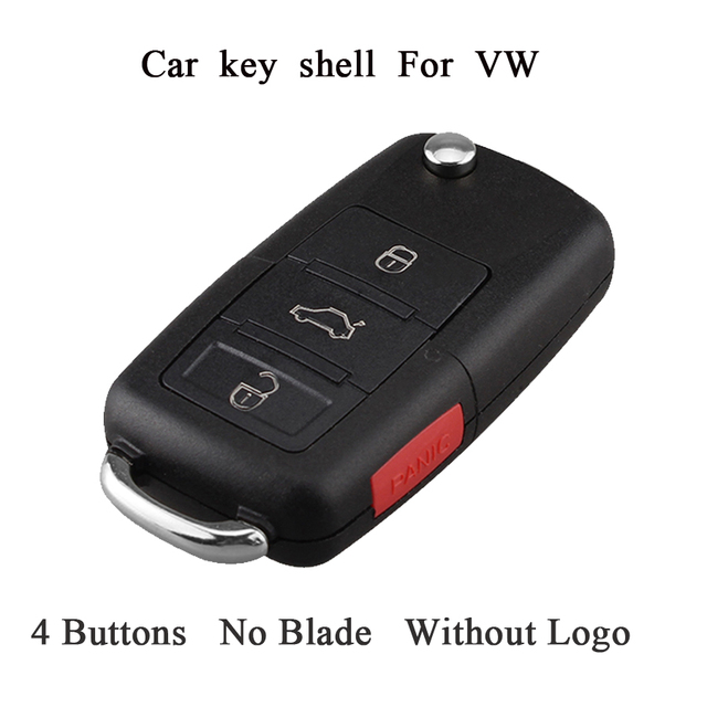 3ons Remote Key Shell Case For Vw Jetta Golf Pat Beetle Polo Skoda 2004 2017 Original Car Fob Without Blade