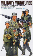 TAMIYA 35184 1/35 Scale  Military Miniatures German Machine Gunners Plastic Model Building Kit