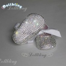 Love dummy Cute pearls custom made DIY prewalkers inspired wedding new born footwear princess little girl gift Baptism shoes(China)