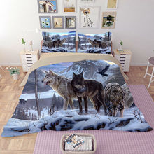 HD Wolf Bedding Set 3D Animal Beddings Duvet Cover Bedlinen Twin Full Queen King Size