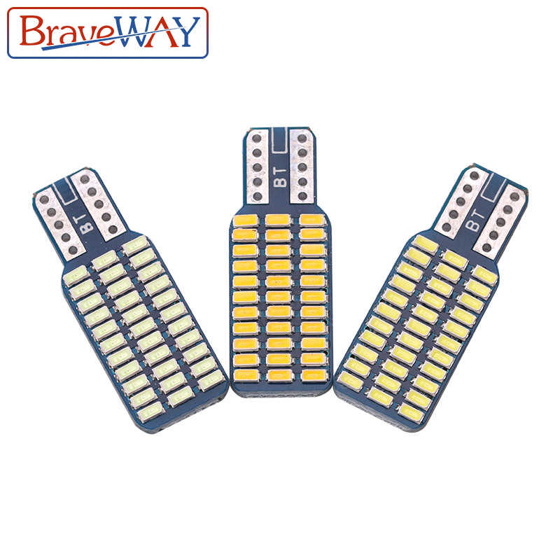 BraveWay T10 192 194 168 W5W LED Bulbs 33 SMD 3014 Car Tail Lights Dome Lamp White DC 12V Canbus Error Free