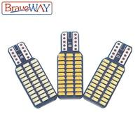 אורות כיפת מנורה לבן BraveWay T10 192 194 168 W5W נורות LED 33 SMD 3014 רכב זנב אורות כיפת מנורה לבן DC 12V CANbus שגיאה חינם (1)