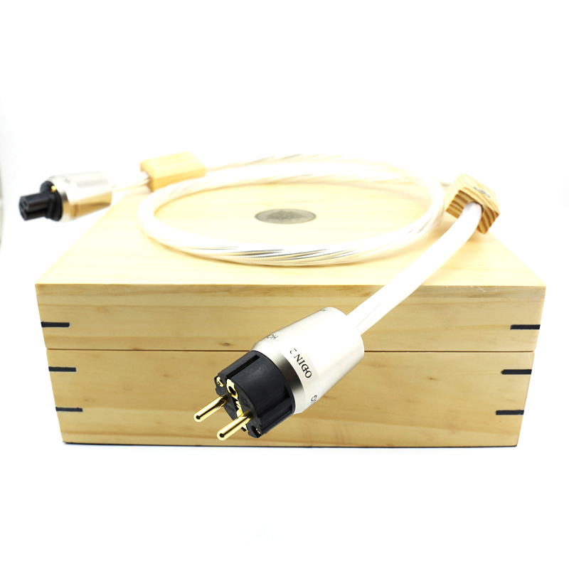 Nordost ODIN 2 supreme reference power cord with Gold plated EU version power plug connection free shipping nordost odin 2 audio power cord with gold plated us eu version power plug connection