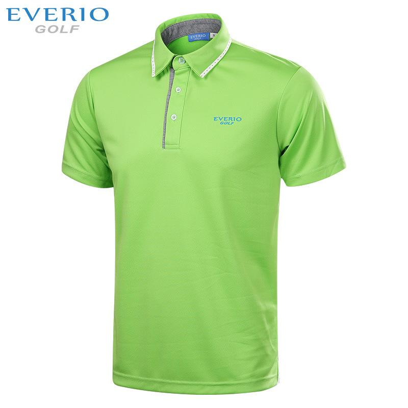 EVERIO New men golf T shirt summer short sleeve sports fabric golf Sportswear Quick Dry Breathable golf shirts 4colors S-3XL
