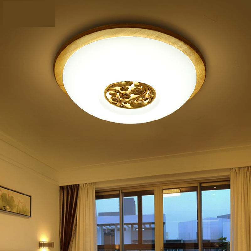 ФОТО Sculpture Wood Round Ceiling lights indoor lighting led luminaria abajur modern led ceiling lights for living room lamps fixture