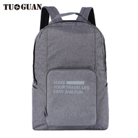 TUGUAN Mens Waterproof Backpacks Double Zipper Business Solid Folding Travel Duffle Back Pack Outdoor Pocket Travelling