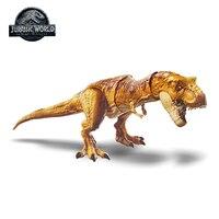 Оригинальные Mattel мир Юрского периода 2 атаки тираннозавр рекс моделирование звук фигурку Лидер продаж Модель Куклы и игрушки для детей
