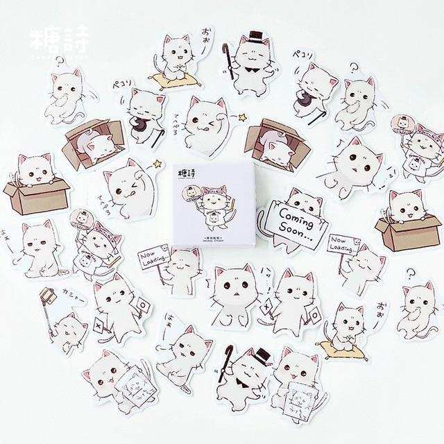 Милая наклейка с кошкой милый дневник ручной работы клейкая бумага хлопья Япония винтажная коробка мини-наклейка Скрапбукинг пуля журнал канцелярские товары - Цвет: 3