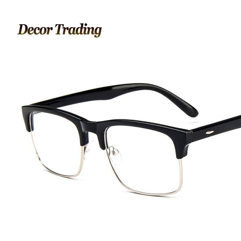 3efde12f46b Vintage Metal Semi Rimless Glasses Men Women Brand Designer Glasses Coating  Mirror Glasses Fashion Goggles Oculos De Sol 9507