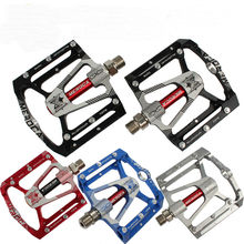 NEW 2019 Flat Bike Pedals 291g MTB Road 3 Sealed Bearings Bicycle Pedals Mountain Bike Pedals Wide Platform pedales bicicleta цена