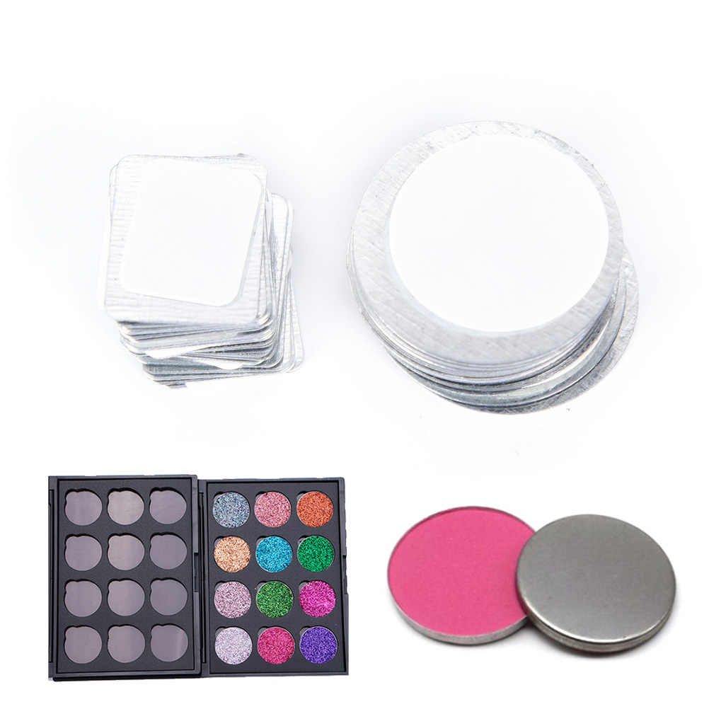 20PCS/Lot Round Rectangle Metal Stickers For Eyeshadow To Hold Magnetic Eyeshadow Palette Tightly