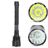 High Quality 30000 Lumens Waterproof 5 Mode Super Bright Aluminum 12 LED Torch Flashlight for Camping Hiking Traveling SOS