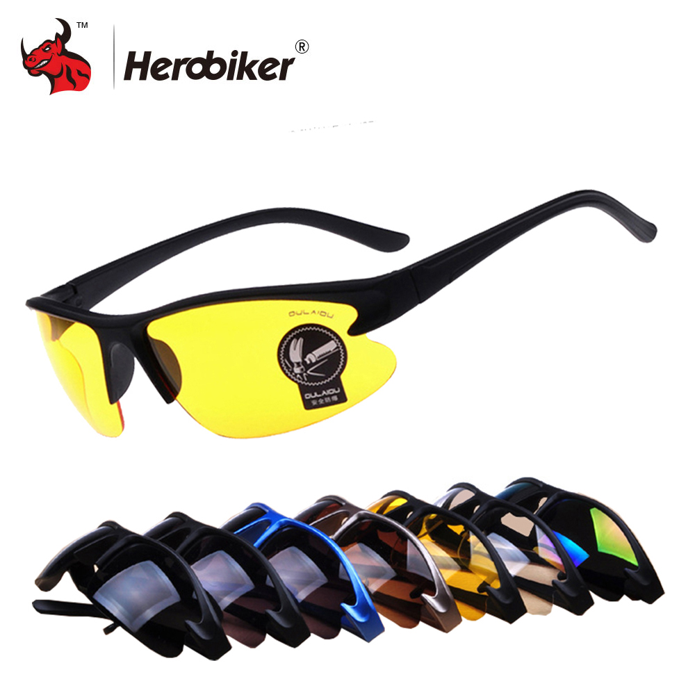 New Motorcycle Glasses Men Sunglasses Night Vision Military Tactical Glasses Motocorss UV Protection Cycling Riding Eyewear car driving glasses eyewear uv protection men women sunglasses goggles hd yellow lenses sunglasses night vision