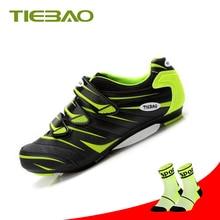 купить Tiebao Road Cycling Shoes Bicycle Racing Sports superstar Breathable Athletic sapatilha ciclismo Road Bike Self-locking sneakers дешево