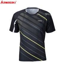 KAWASAKI быстросохнущая Мужская футболка для фитнеса с коротким рукавом из полиэстера, дышащие спортивные футболки для бега и бадминтона, ST-S1122