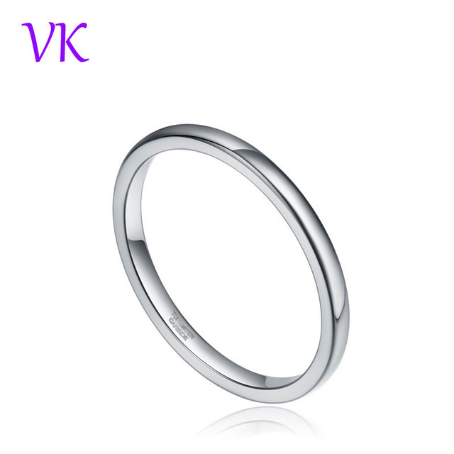 TIGRADE Fashion Jewelry 2mm Cute Men Women Simple Rings 100% Pure Tungsten Carbide Ring Wedding Band Engagement Ring 4-12