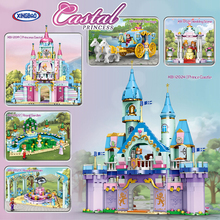 XINGBAO 12019-12024 New City Girl Friends Series Prince And Princess Funny Castle Carriage Building Blocks Bricks Girls Toys