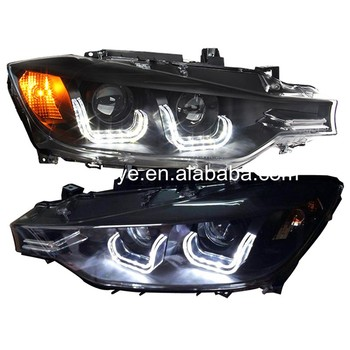 For BMW for F30 F35 318 320 325 328 330 335 Head Lamp Angel Eyes U style 2013-2015 year LF