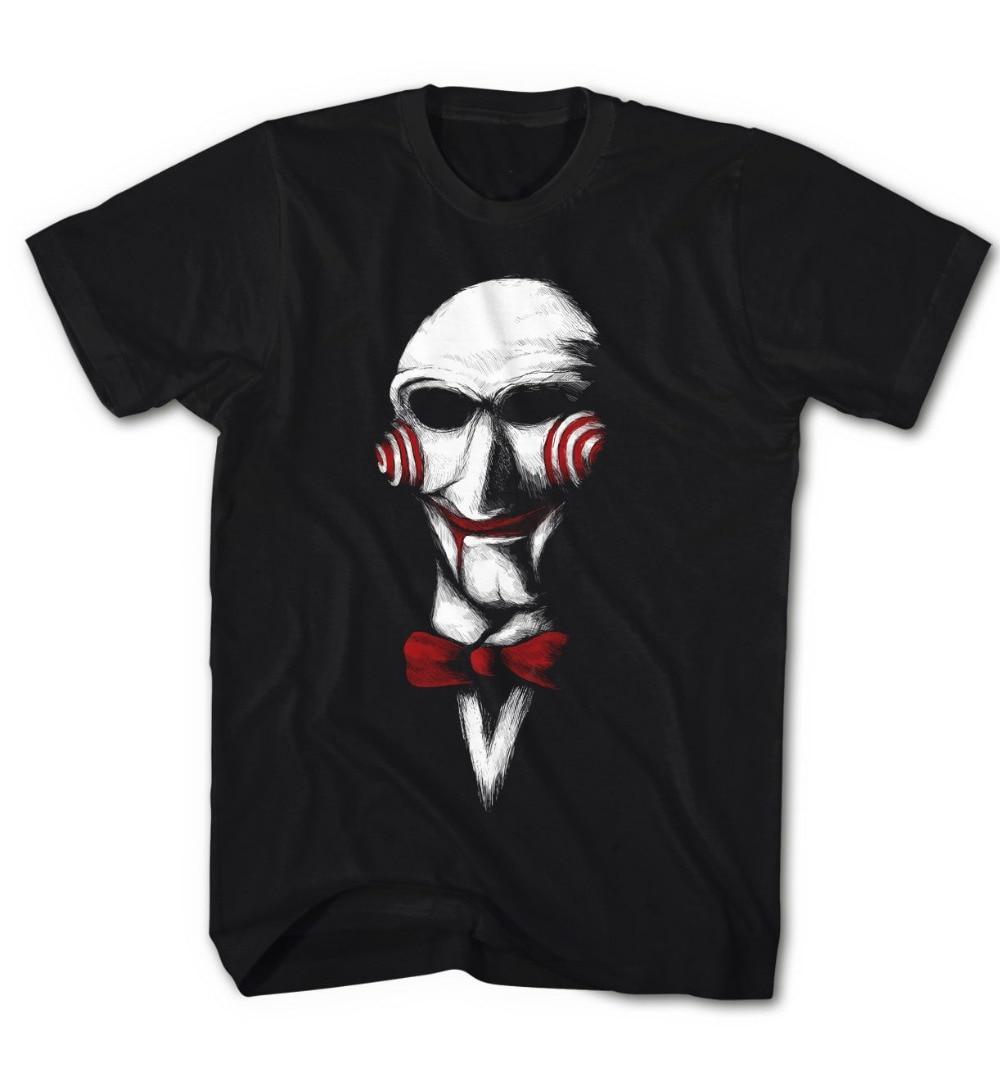Herren T-Shirt Jigsaw Puppe Spiel Horror Film Sah Neu 2019 Neue Marke Billig Verkauf 100% Baumwolle Lustige Shirts