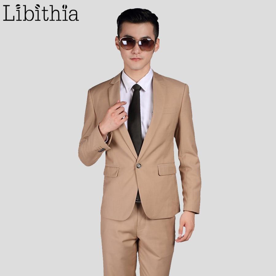 Jacket+Pant+Tie) New Arrival Men Busines Suit Sets Slim Fit Tuxedo ...