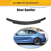 Fibra de carbono tronco traseiro boot spoiler asa para bmw f87 m2 f22 2016 2017 m2 220i 228i m235i personalizado spoiler
