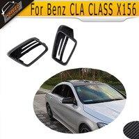 Fibra de carbono espelho lateral do carro capa para mercedes benz gla classe x156 2014 2015 2016