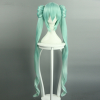 Vocaloid Hatsune Miku 40cm 120cm Two Parts Length Long Wigs Japanese Style Anime Cosplay Wig Hair