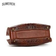 New Genuine Leather women bags Fashion Crocodile pattern Embossed luxury handbags dig bags designer women leather handbags