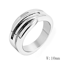 CA 50 Classic Simple Matte Narrow/Wide Ring Titanium Steel for Women Trendy Tail Ring Silver/Rose Gold Color Band Jewelry