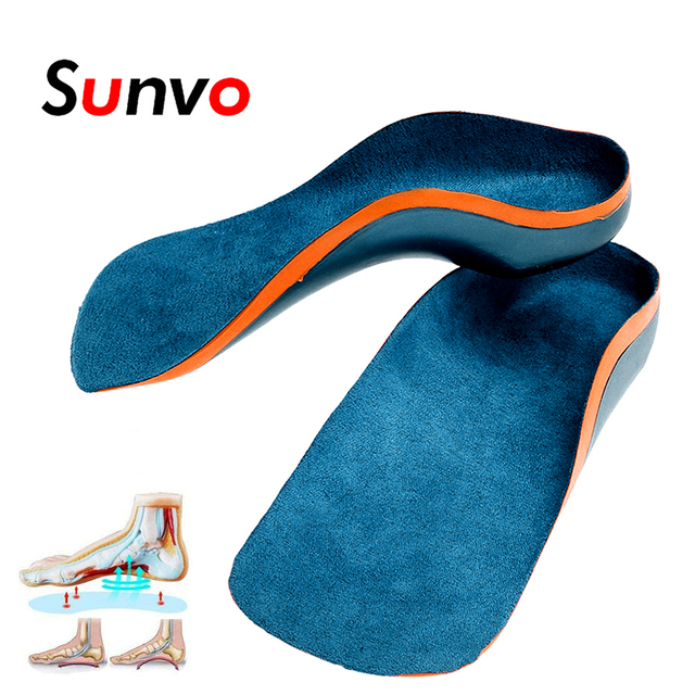 1149e0560f Sunvo Orthotic Insoles for Kids Flat Feet Arch Support Children Insole Child  Orthopedic Correction Shoes Pads Foot Health Care