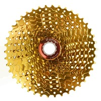 ZTTO 11 Speed Cassette 11 42T Compatible Road Bike Shimano Sram System High Tensile Steel Sprockets Folding Gold Gear