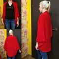 New Korea Style Women Loose Batwing Cardigans Shawl Knit Jacket Woolen Coat Sweater Knitwear Top