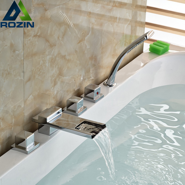 faucets tub modern moen bathroom kohler bathtub faucet waterfall