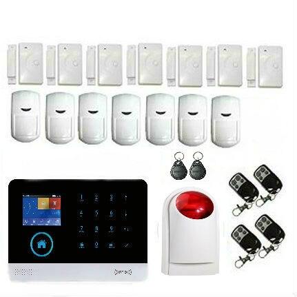 Yobang sécurité russe espagnol anglais français wifi/GSM système d'alarme sécurité à la maison systèmes d'alarme système d'alarme intelligent
