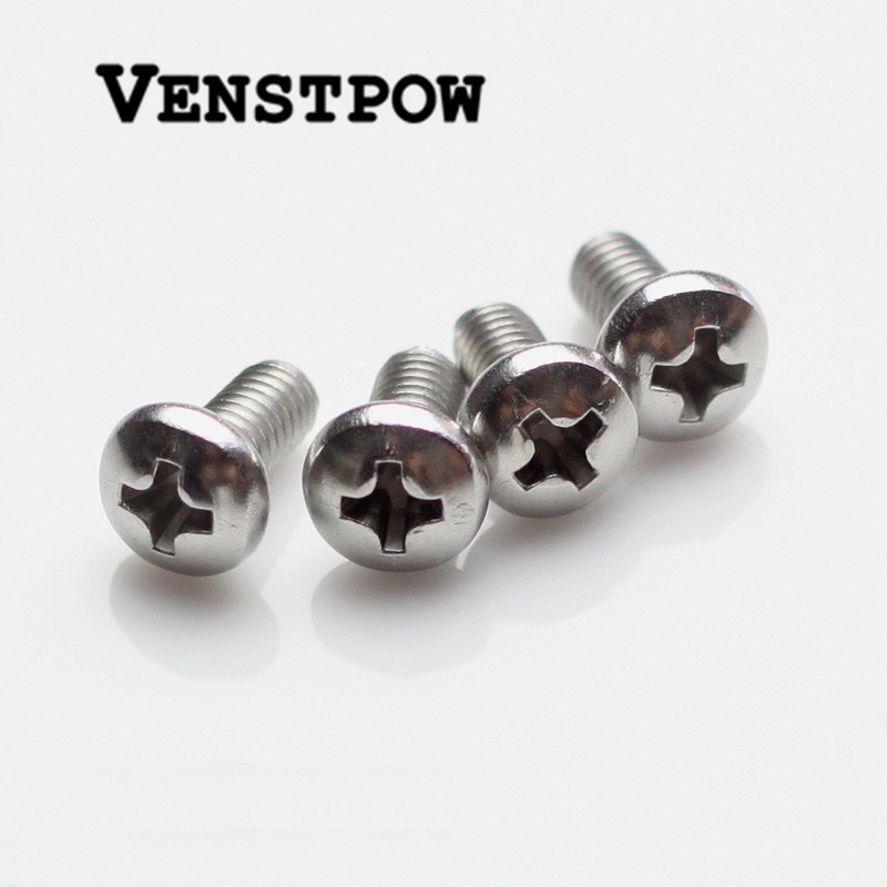 100pcs/Lot GB818 M2.5/M3/M4 304 Stainless Steel Phillips Cross recessed pan head Screw 500pcs lot din7985 stainless steel 304 m3 phillips pan round head machine screw kit m3 5 6 8 10 12