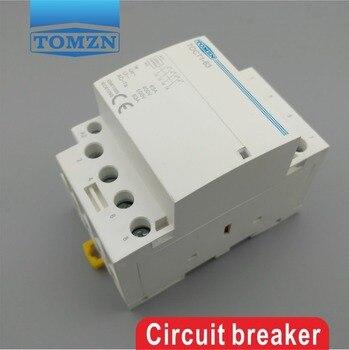 TOCT1 4P 63A 220V 400V ~ 50/60 HZ, carril Din, contactor Modular AC, 4NO 2NO 2NC 4NC 2