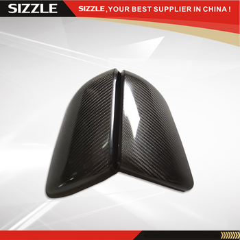 Carbon Fiber Side Mirror Cover For Ford Mustang 2015 American Edition Full Glossy Black No Turn Light