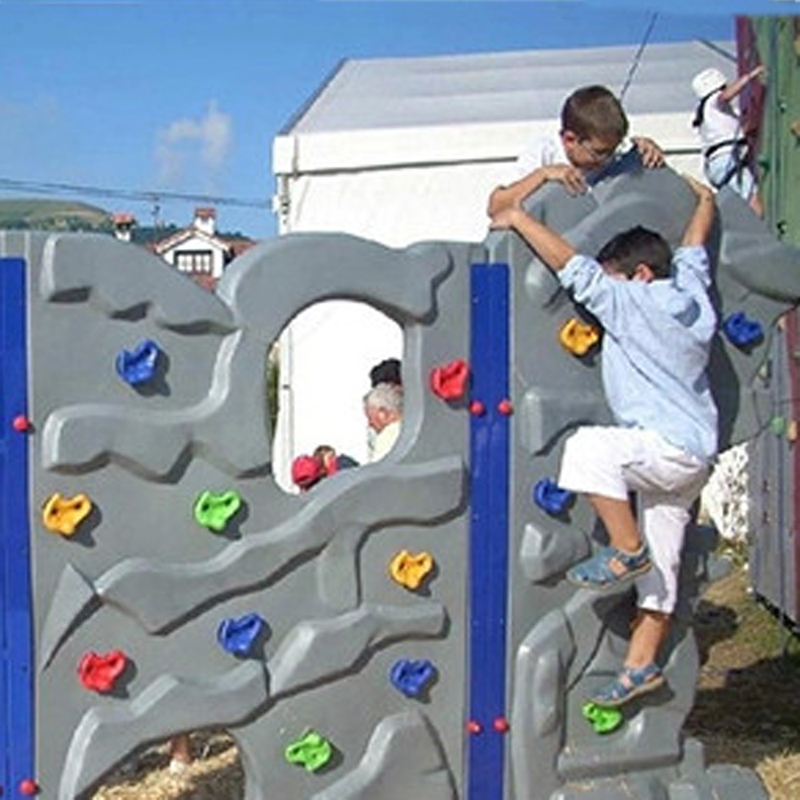Kids Outdoor Indoor Playground Plastic Rock Climbing Holds Wall Set Tool Kit Rock Stones Backyard Kids Sports Toys For Children