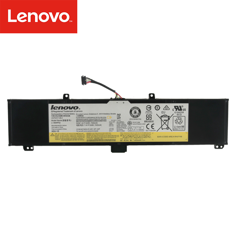 Original Laptop Battery For Lenovo Y50-70 Y70-70 Y70 121500250 Tablet  L13M4P02 L13N4P01 L13M4P02  7.4V 54Wh