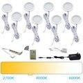 AIBOO bajo luces LED de Puck luces temperatura de Color cambiante caliente + blanco con control remoto IR para Cocina