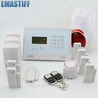 DIY Wireless& Wired GSM Home Security Burglar Alarm System Kit With SOS Intercom+3 PIRS+7 Door Gap Sensor+FlashSiren