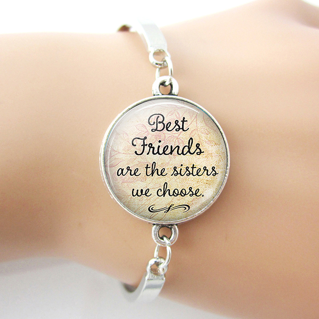 Best Friends Are The Sisters We Choose, Friendship Bracelet Bangle