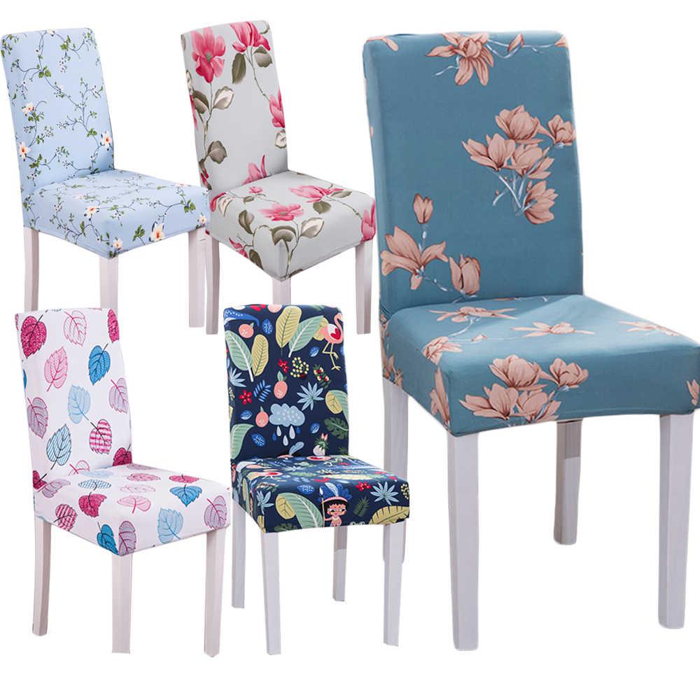 Monily Floral Carta Impressão De Jantar Tampa Da Cadeira Trecho Slipcovers Spandex Elástico Anti-sujo Caso Assento Removível para Banquetes Do Hotel