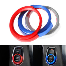 1 шт., Автомобильный ключ запуска декоративная рамка для кнопки подкладке чехлы на сиденья наклейки отделки салона авто аксессуары для BMW 1/2/3...
