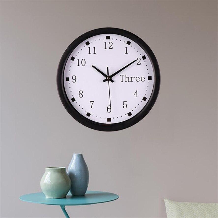 2018 New Digital Vintage Wall Clocks 1PC Fashion Silent Sweep Modern Graceful Desk Creative Simple Digital Clock home decor 35